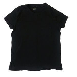 Madewell Black Cotton Pocket Tee T-Shirt Size S